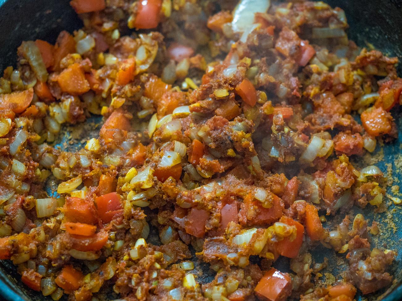 making Chicken Paprikash Casserole