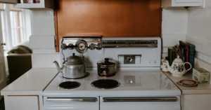sparkling clean vintage kitchen
