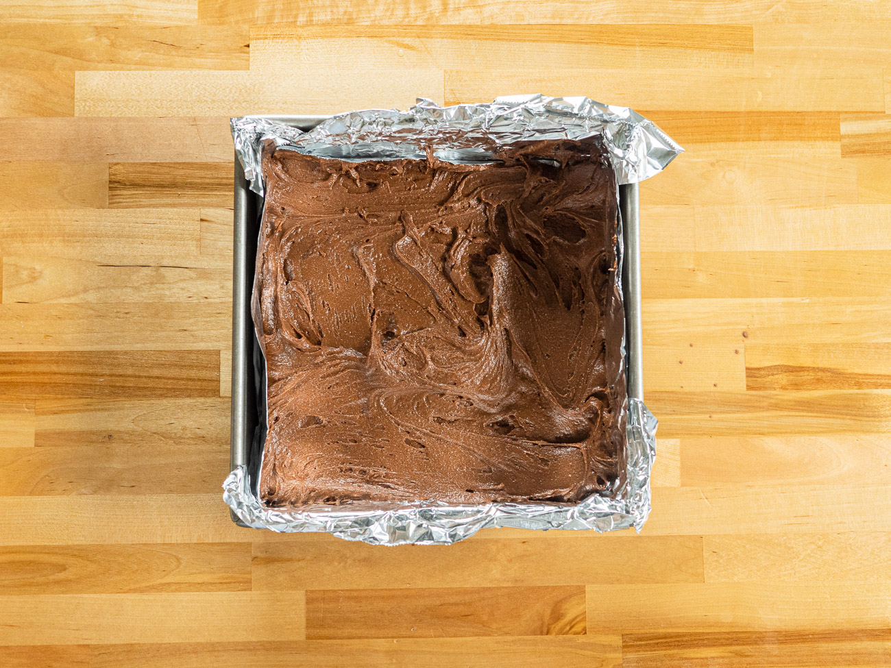 unbaked Lunch Lady Brownies