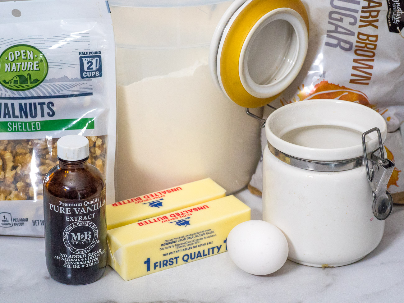 ingredients for Alice cookies