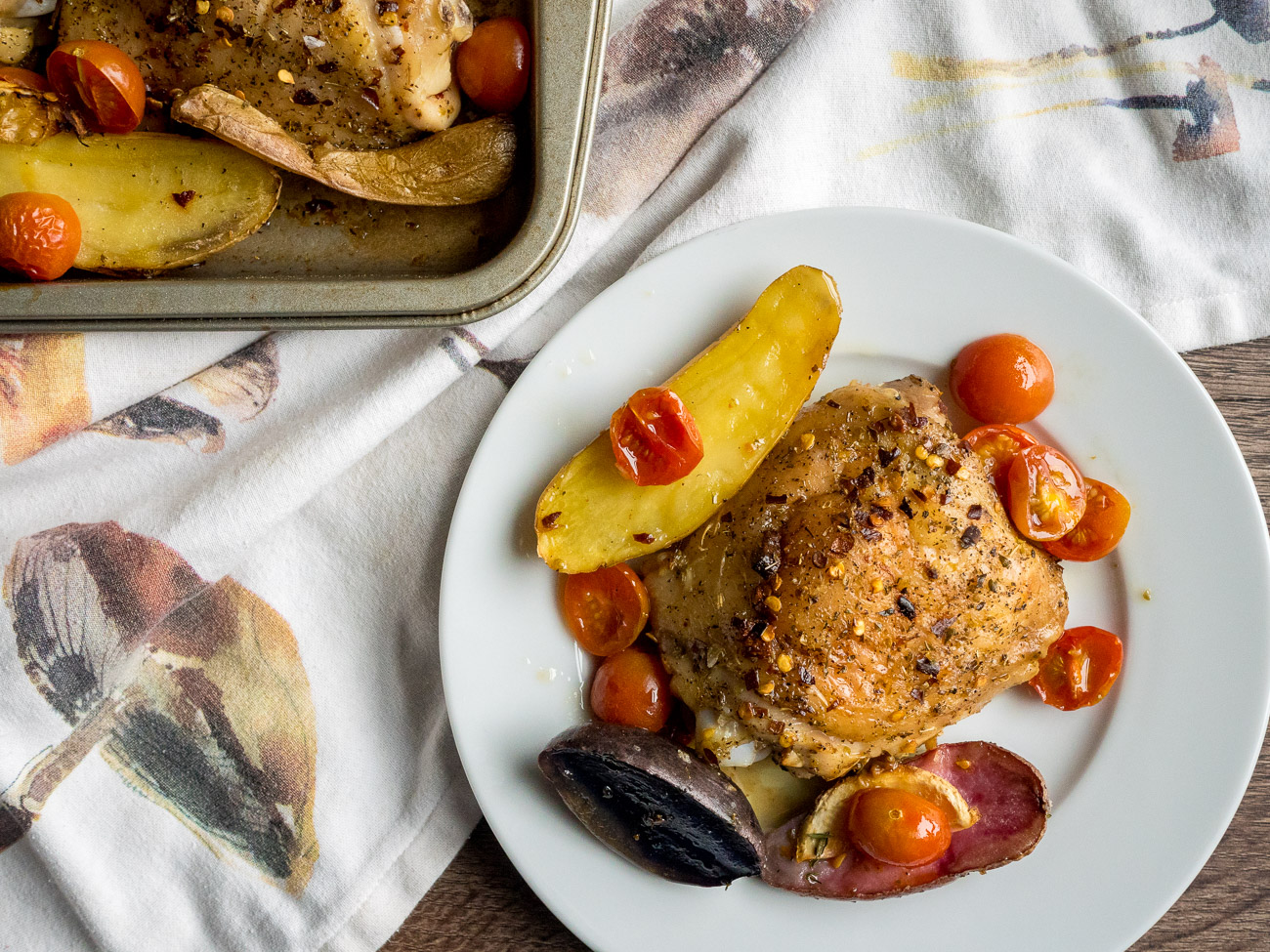 One-Pan Roast Chicken with Tomatoes
