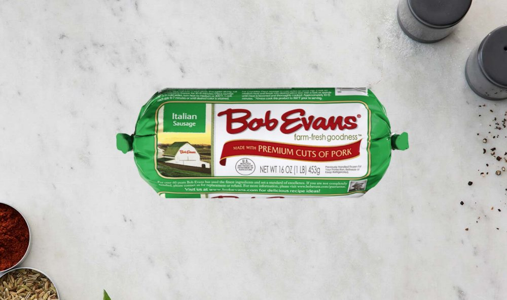 tube of Bob Evans Italian suasage