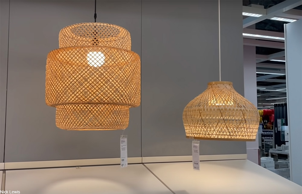 rattan pendant lamps at IKEA
