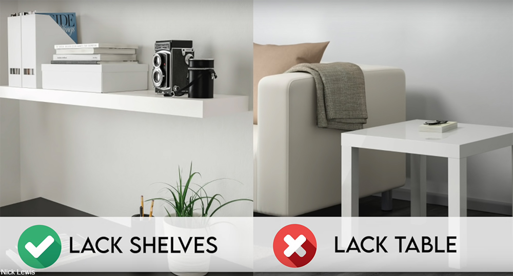 Lack shelf and table