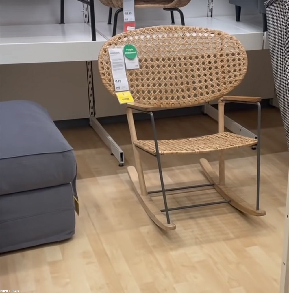 Ikea rattan rocking chair