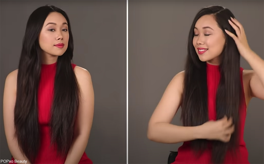 how to style long hair to make you look younger