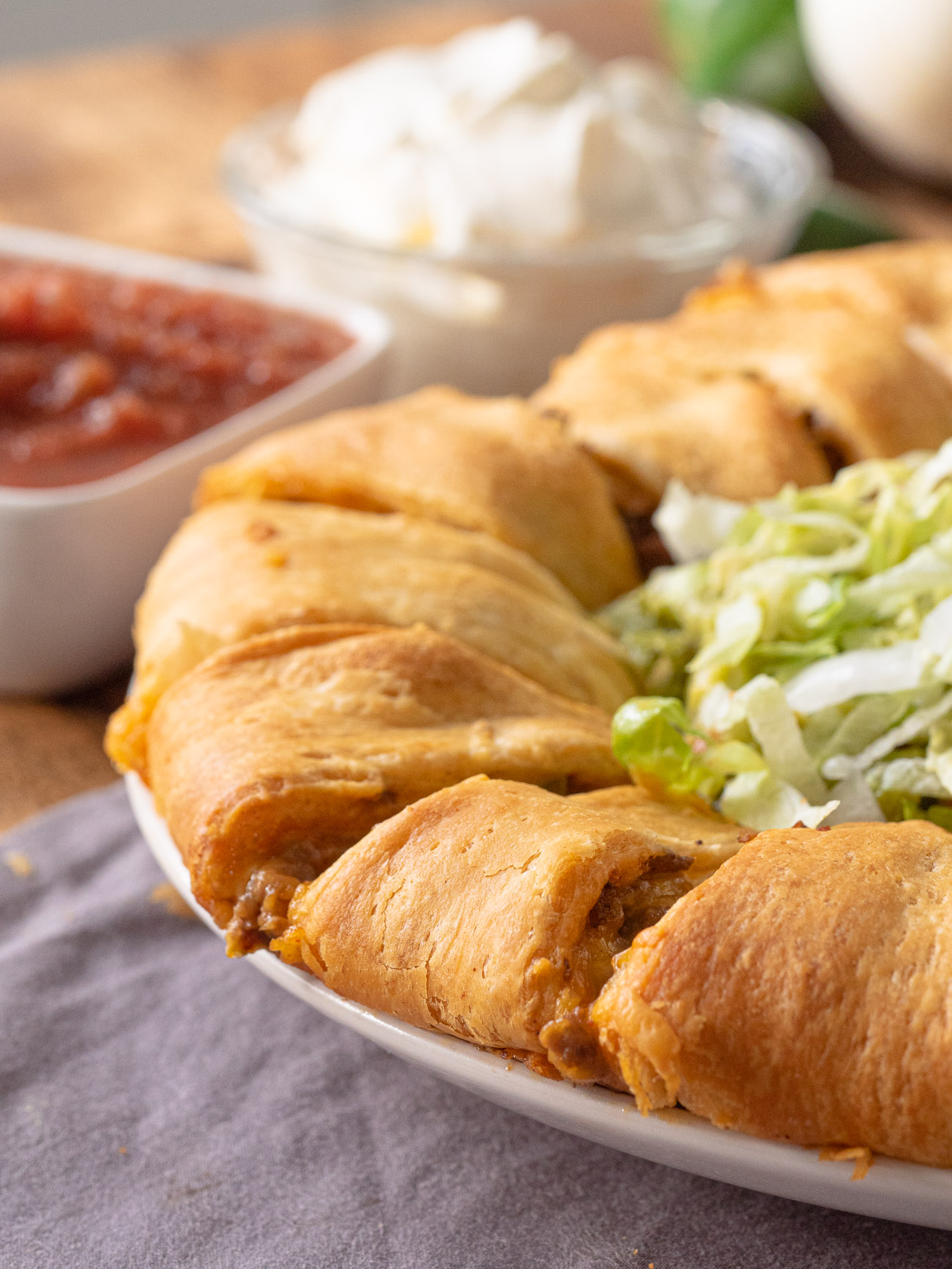 Taco Crescent Roll Ring