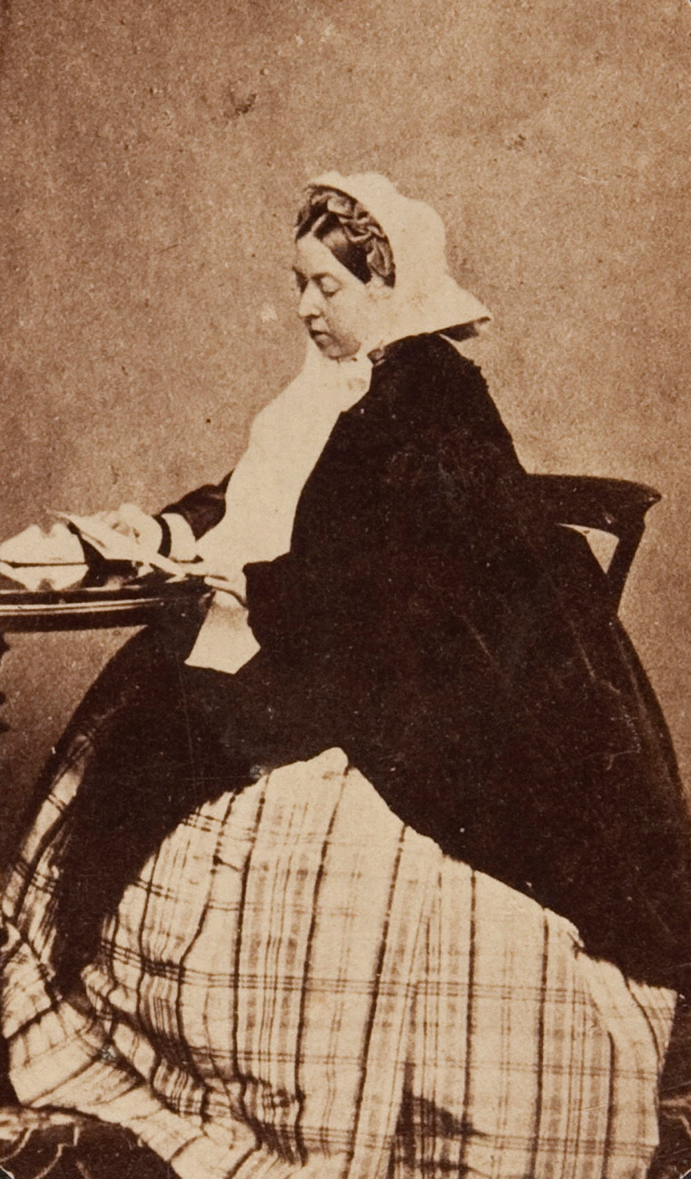 late 19th century card de visite of Queen Victoria