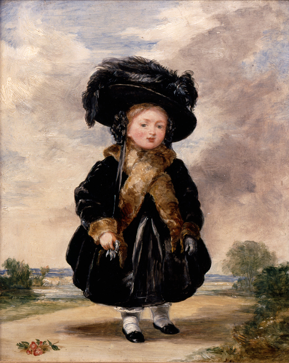 Portrait of the queen at age 4