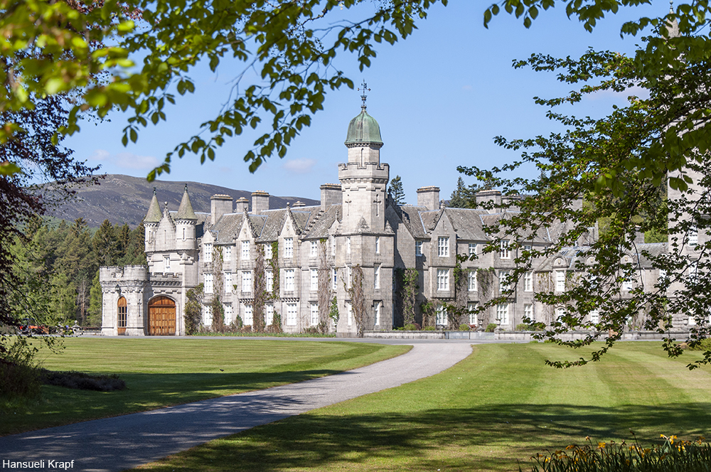 Balmoral Castle on a sunny day
