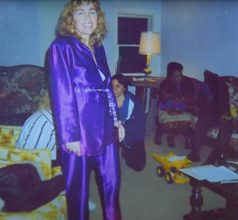 Sandra Ramos, the purple lady