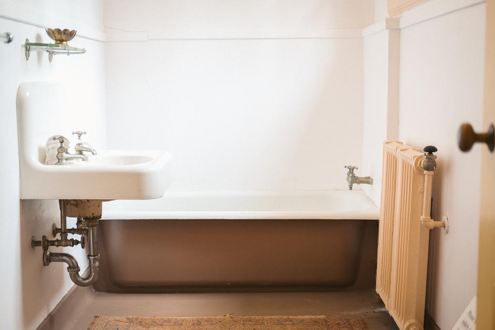 bathroom in an old house