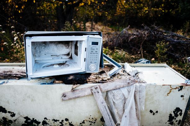 Exploded Microwave