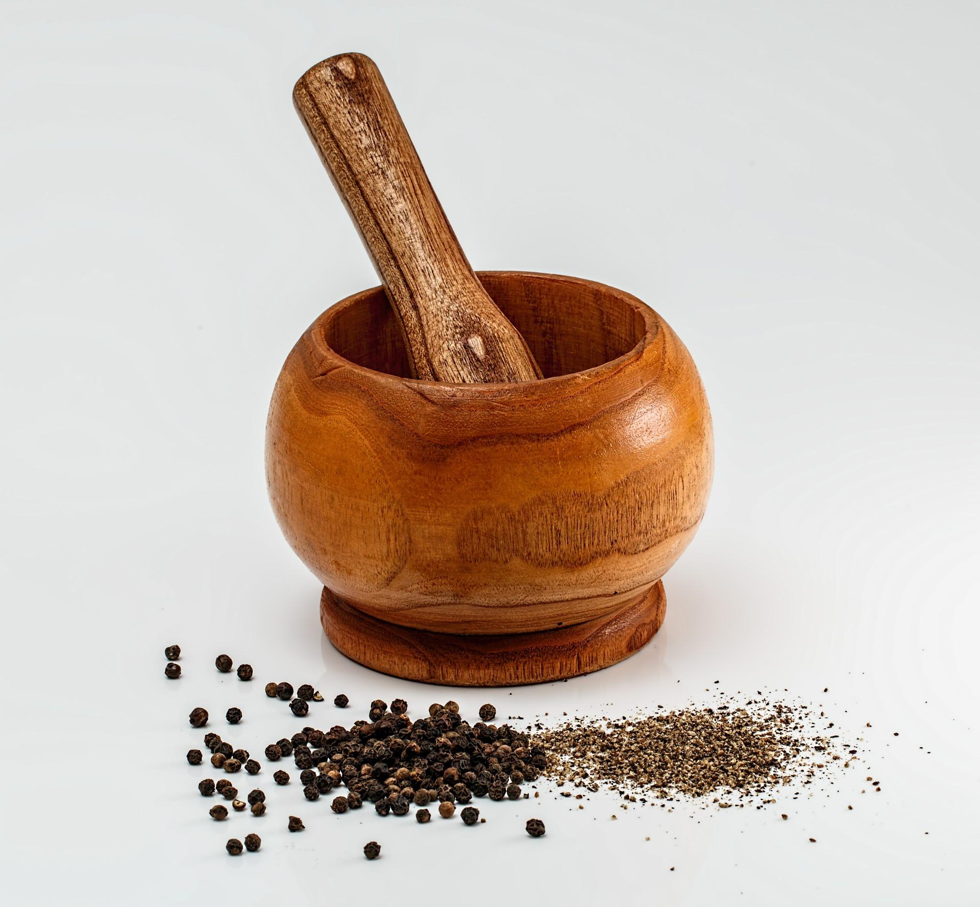 Pepper mortar and pestle