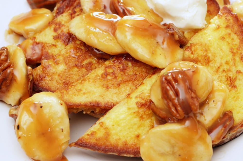 banana pecan french toast