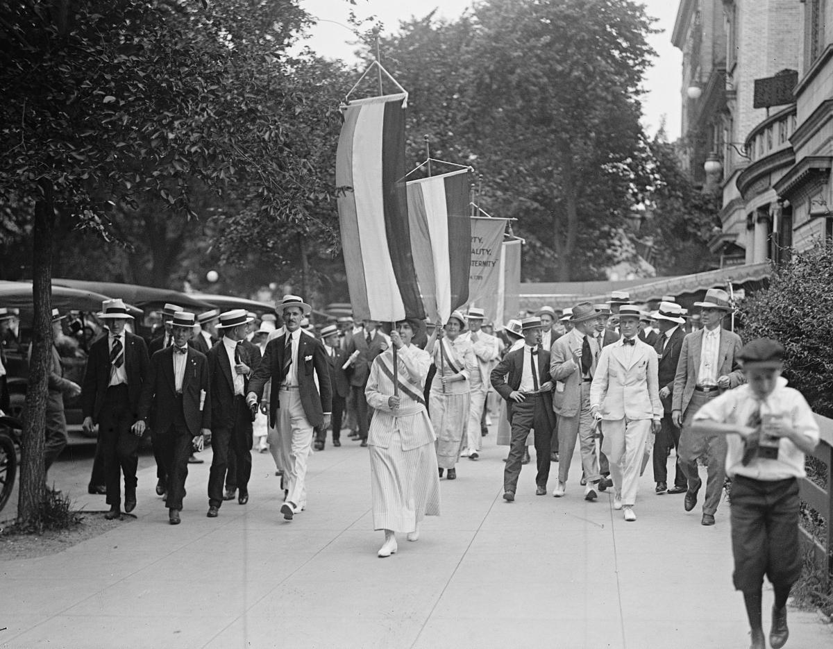 women's suffrage march, Washington DC, 1917
