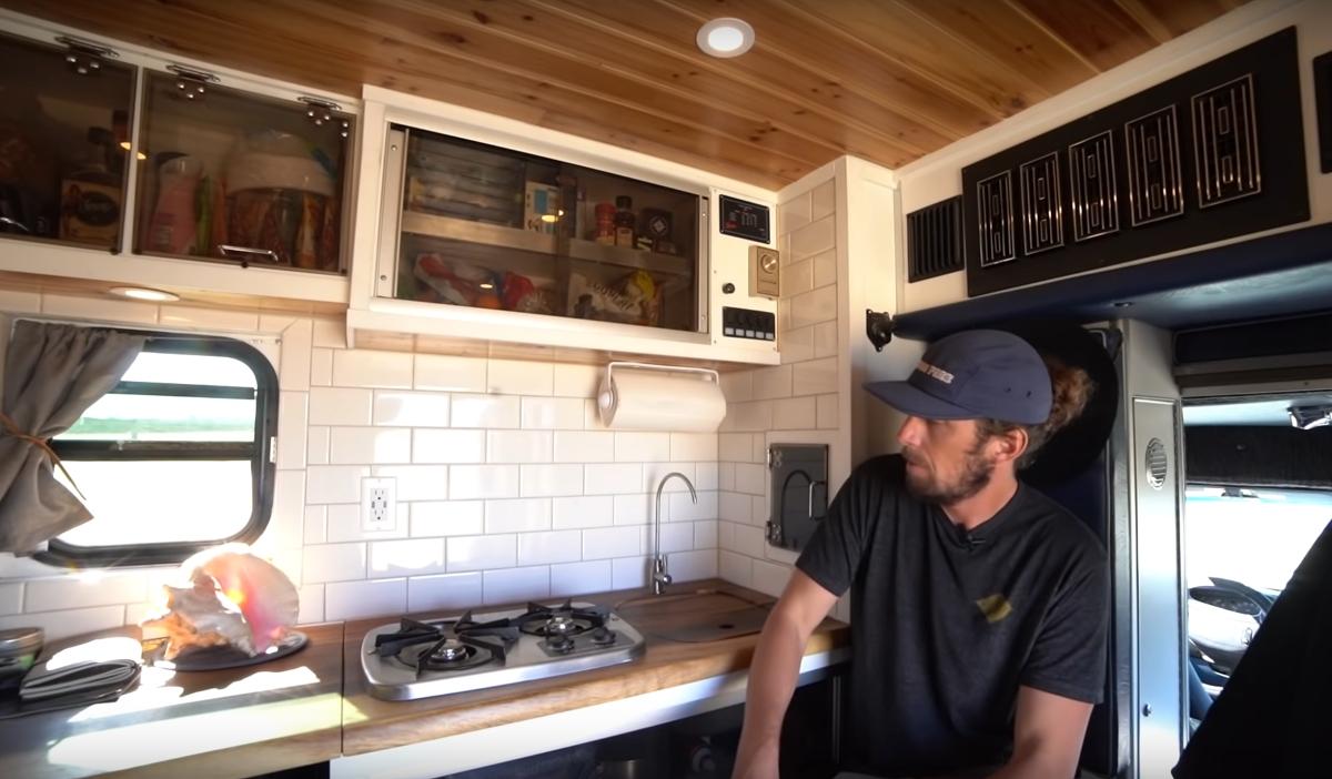 Man Converts Ambulance Into Gorgeous Tiny Home on Wheels