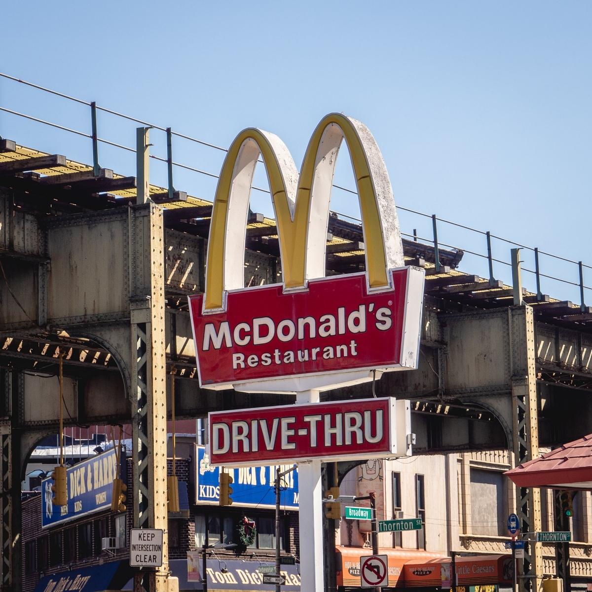 McDonald's sign, Brooklyn, NYC