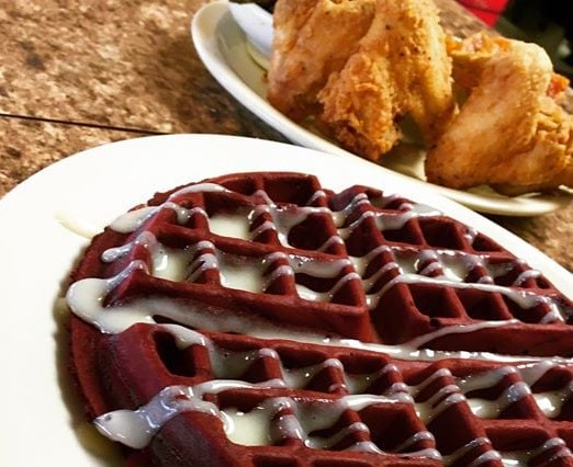 Red Velvet Chick and Waffles