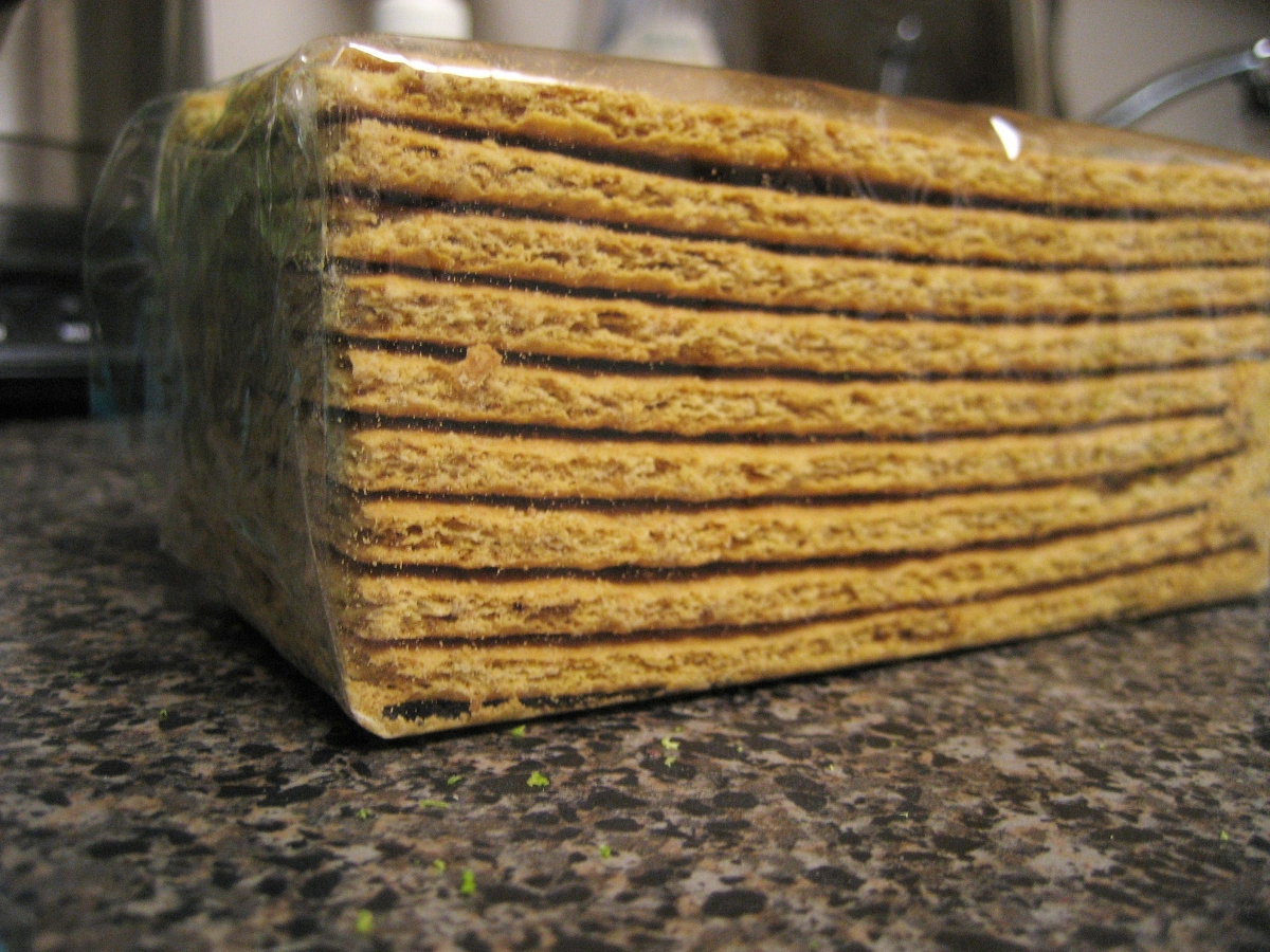 stacked graham crackers on a countertop