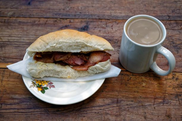 Bacon Butty and Coffee