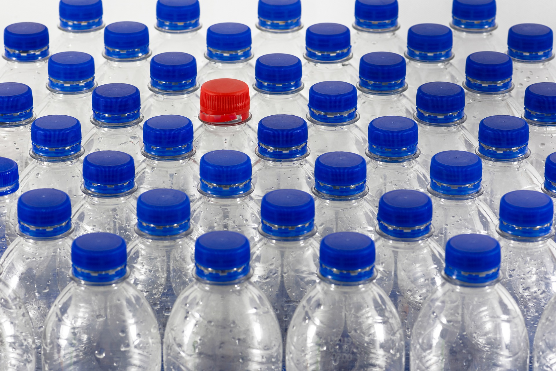 Water Bottles Grouped