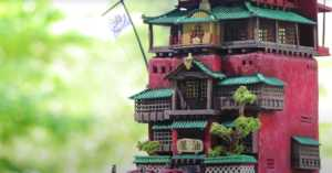 miniature version of the bathhouse from Spirited Away