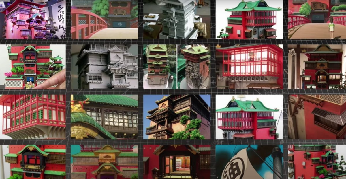 inspiration images for Spirited Away mini bath house