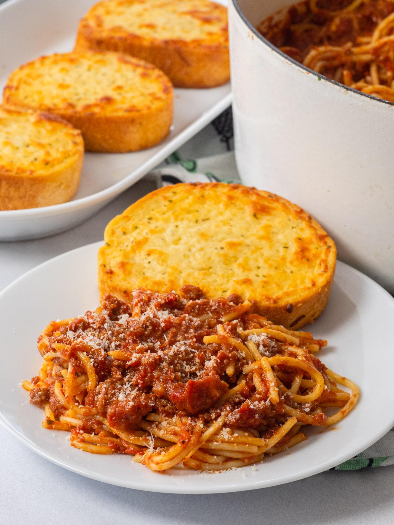 School Cafeteria Spaghetti