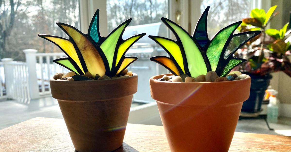 Artist Creates Beautiful Stained Glass House Plants