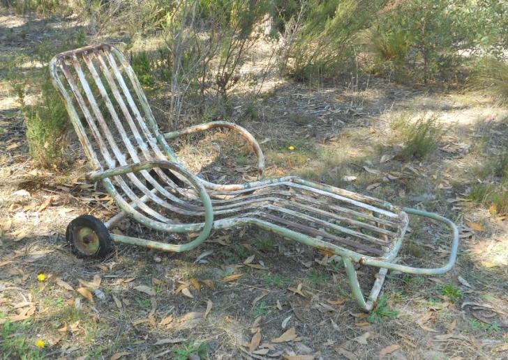 rusty lawn chair