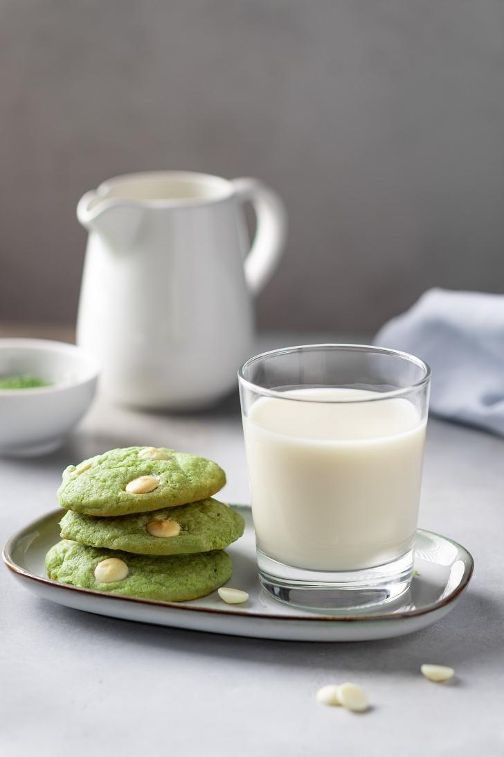 White Chocolate Green Tea Cookies