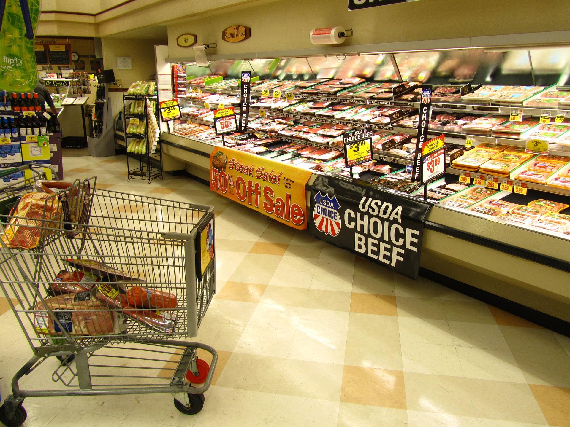 Supermarket Meat Aisle