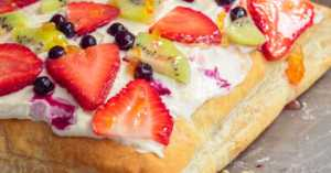Puff Pastry Fruit Pizza