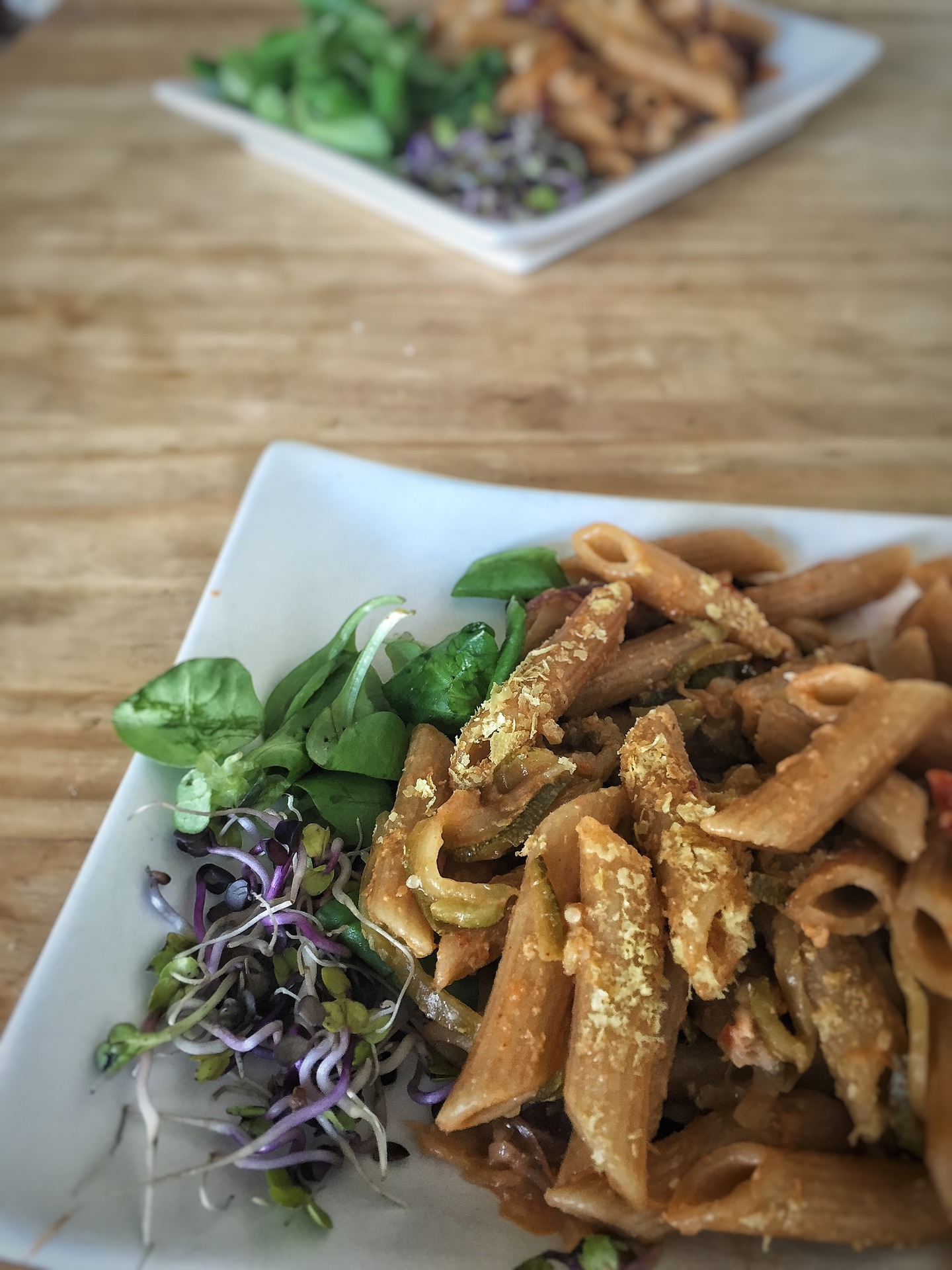 rye-pasta with added nutritional yeast