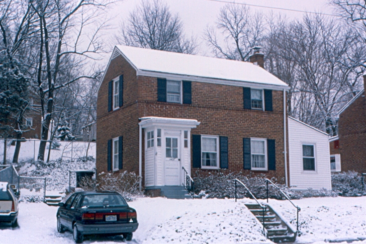 house in winter 1990s
