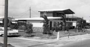 1960s suburban house exterior