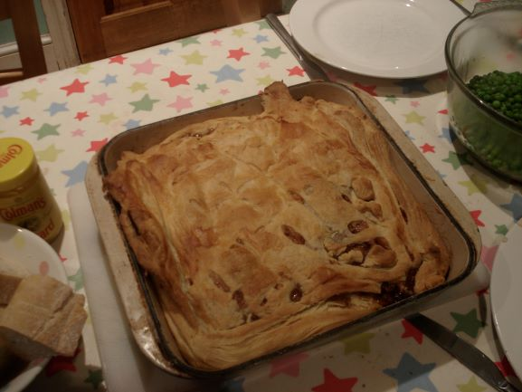 Beef, Cheddar, and Guinness Pie