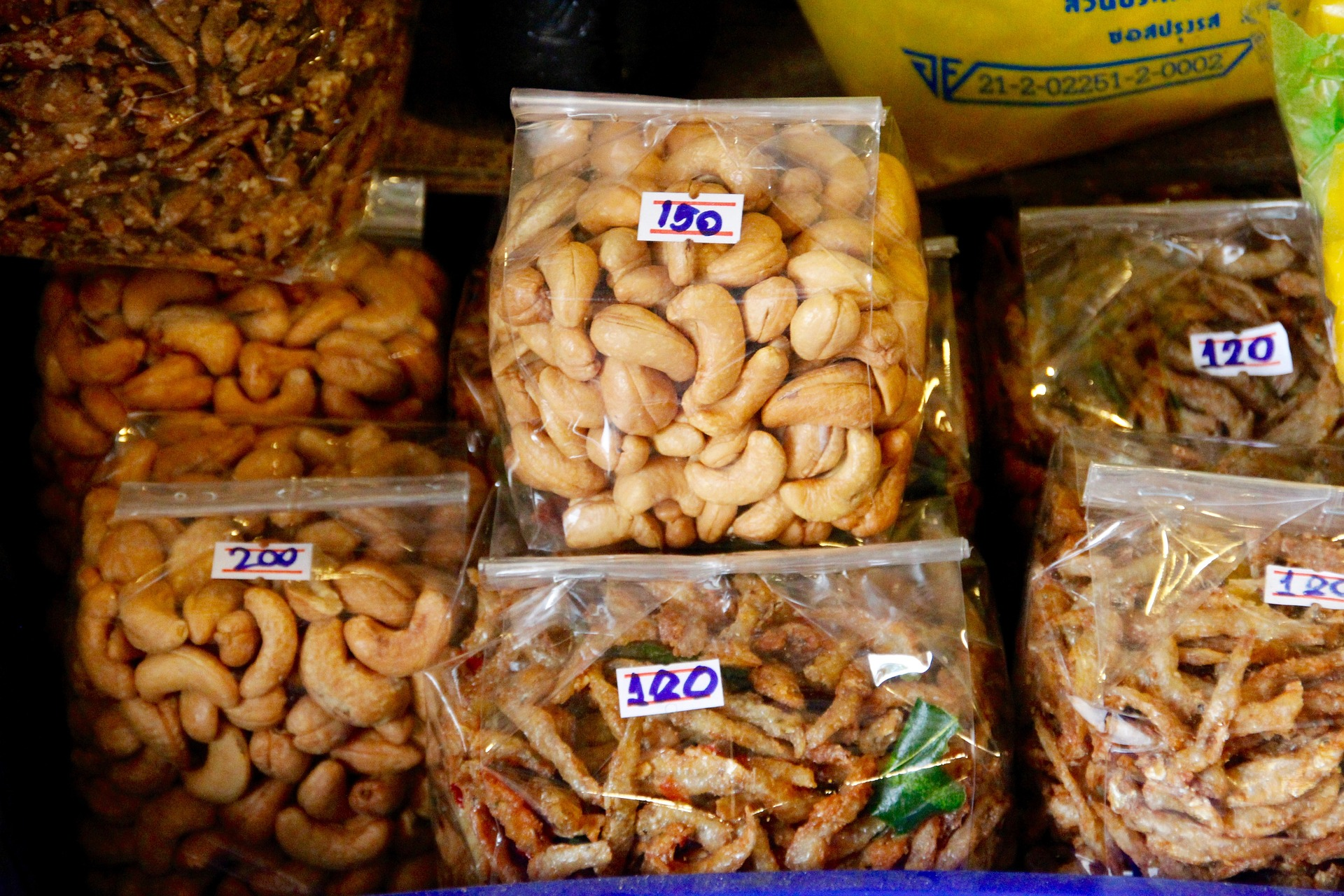 bags of nuts