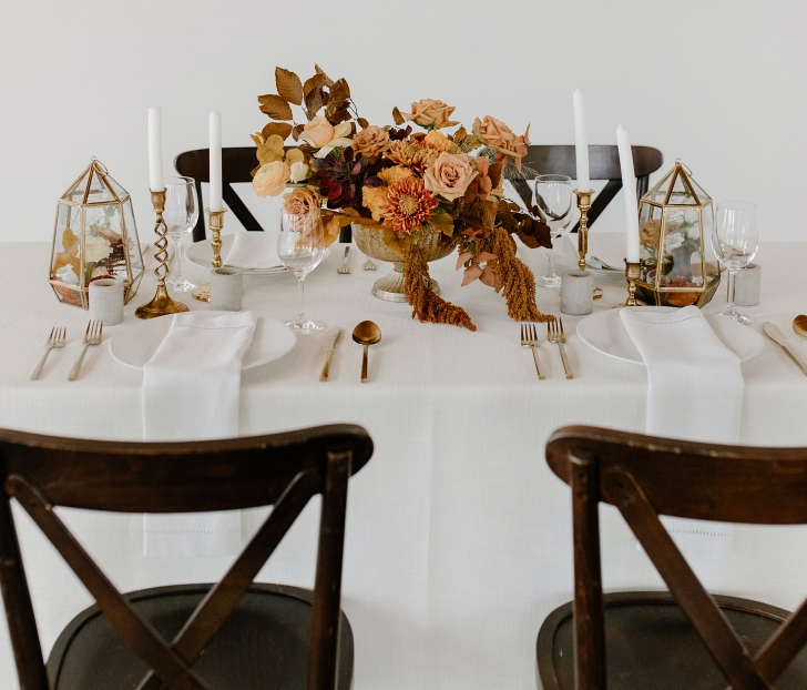 tablescape with new and old elements