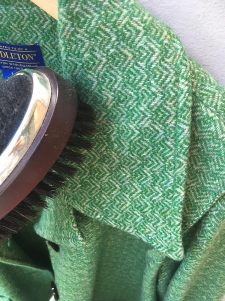 brushing pendelton jacket