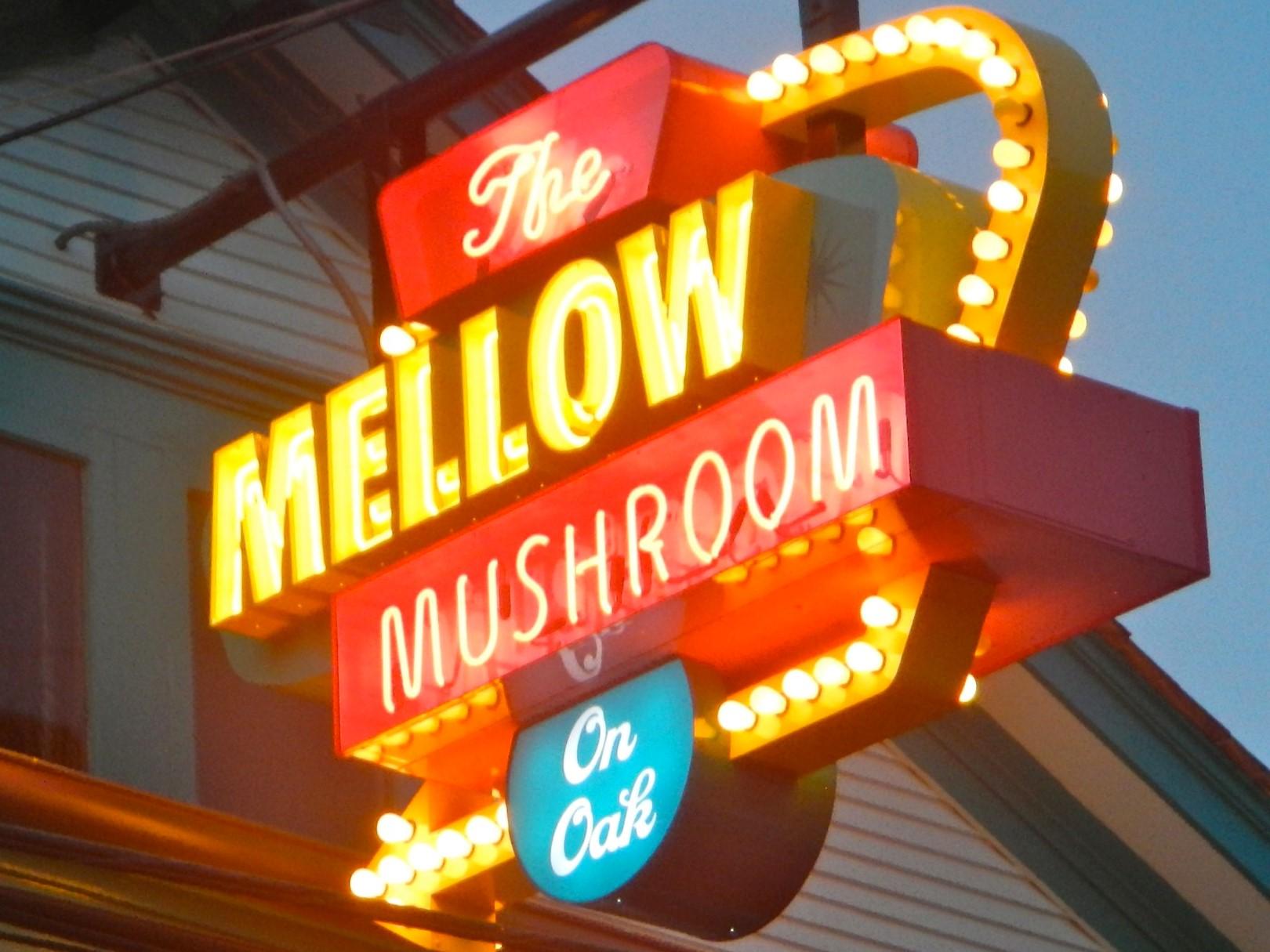 Mellow Mushroom Sign