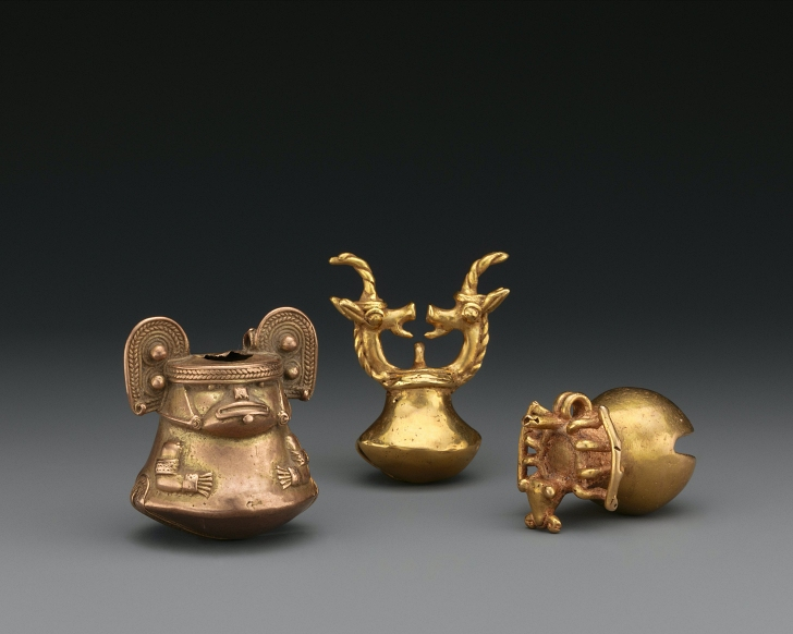 pre-contact golden objects from Columbia on display at the Metropolitan Museum of art in NYC