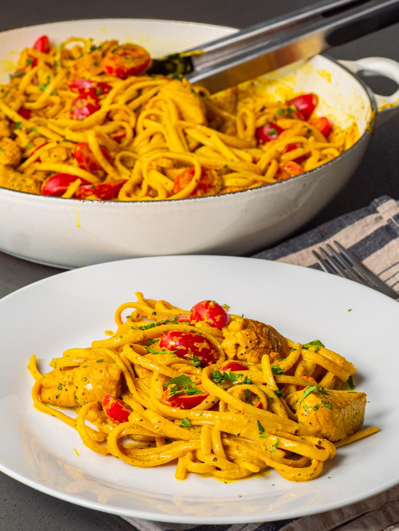 Chicken Curry Spaghetti