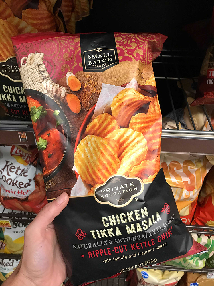 Bag of chicken tiki masala chips