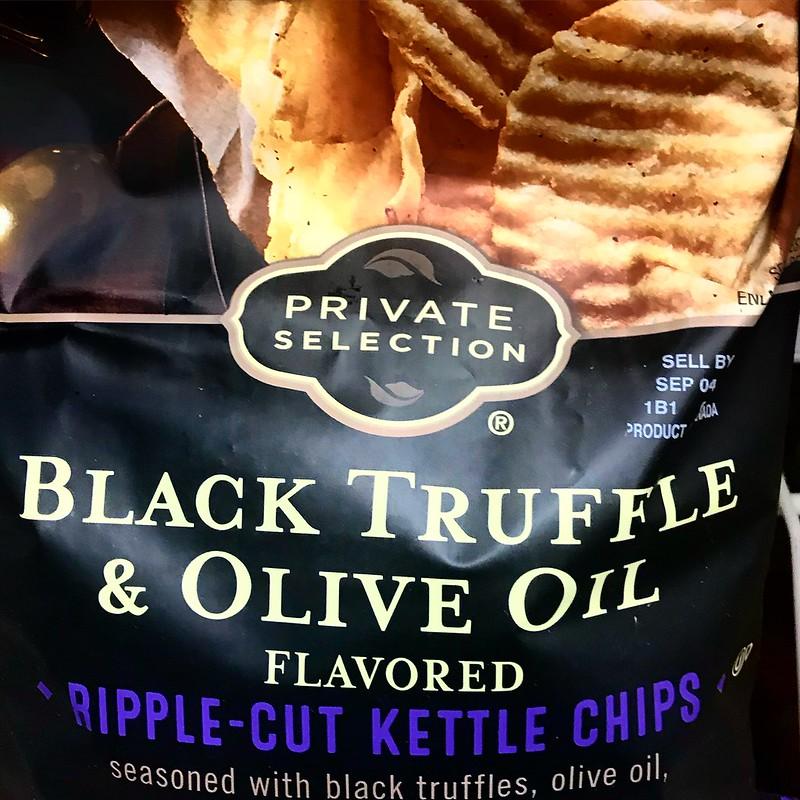 Bag of Black truffle chips