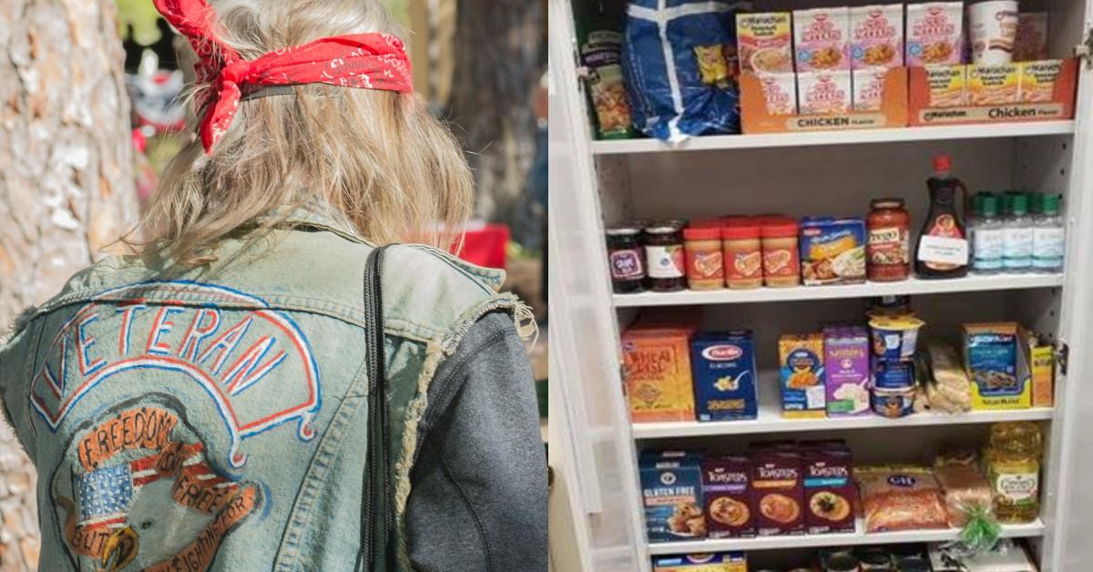 Veteran at a food pantry