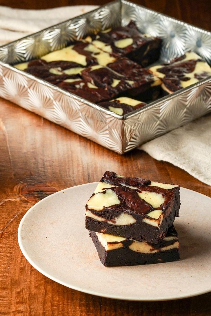 Dark Chocolate Cream Cheese Brownies