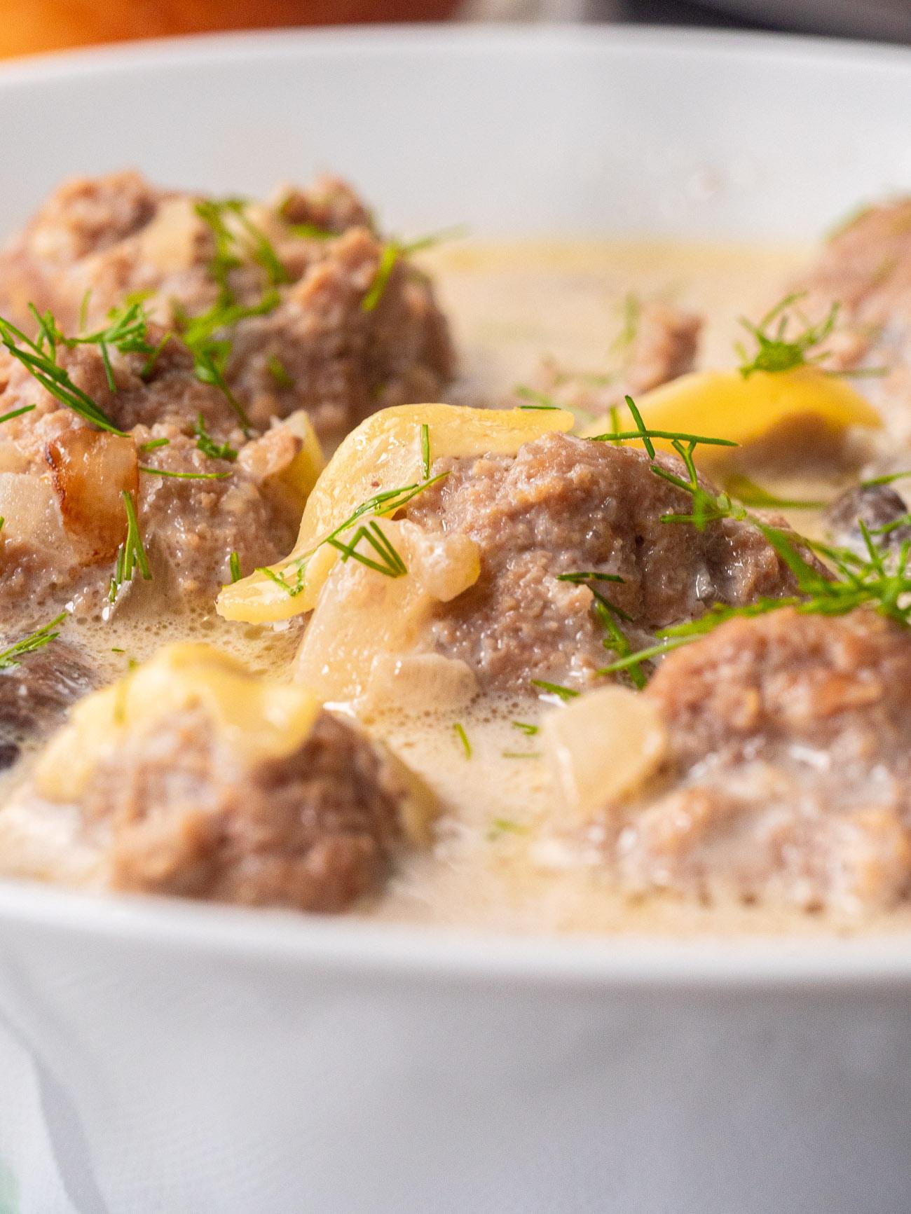 Slow Cooker Swedish Meatball Soup