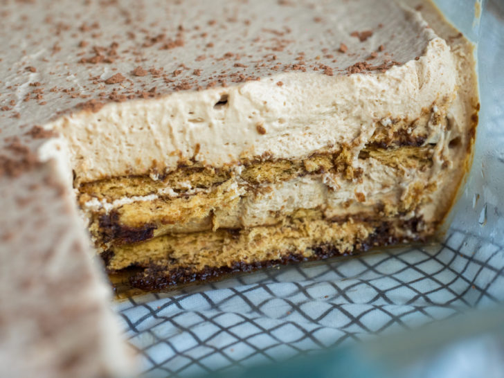 Creamy coffee icebox cake